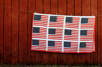 flag, patriotic, red, white, blue, quilt, barn, vintage, rustic, home decor, fine art print