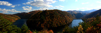 "color, dragon, fall, horseshoe, panoramic, ""smoky mountains"", trees"
