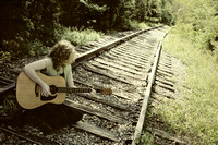 chattanooga, female, outdoor, portraits, professional, senior, tennessee, tn, school, guitar, railroad tracks