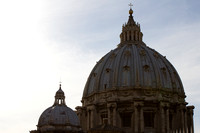 "art, ""christine lewis photography"", decor, fine, home, italy, rome, the, travel, vatican, st peter's basilica, dome, sky, clouds"