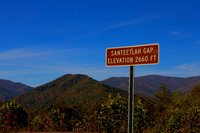 Santeetlah Gap, North Carolina, Cherohala Skyway, blue sky, mountains, fall, fine art print, home decor, elevation 2660