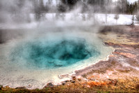 HDR, National, Park, Sapphire, WY, Wyoming, Yellowstone, activity, art, bacteria, basin, biscuit, blue, bright, color, decor, fine, home, hot, photographs, pictures, pool, prints, professional, snow,