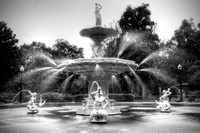 "B&W, Georgia, HDR, Savannah, ""black and white"", ""forsyth park"", ""forsyth park fountain"", fountain, ""long exposure"", monochrome, square, water"