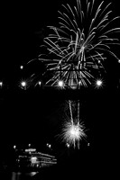 "Chattanooga, ""Dixie Queen"", TN, Tennessee, dark, fireworks, ""grand illumination"", night, ""walnut street bridge"""