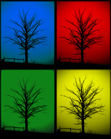 art, blue, colors, green, pop, primary, red, silhouette, yellow