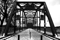"B&W, Chattanooga, ""Christine lewis photography"", Tennessee, ""black and white"", bridge, december, snow, ""walnut street bridge"""