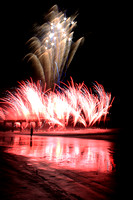 "Georgia, ""Tybee Island"", fireworks, ""labor day celebration"", ""no flash night shot"", ocean, silhouette, waves"