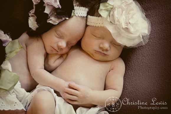 "newborn photography, twins, chattanooga, tn, portraits, ""christine lewis photography"", baby, vintage"