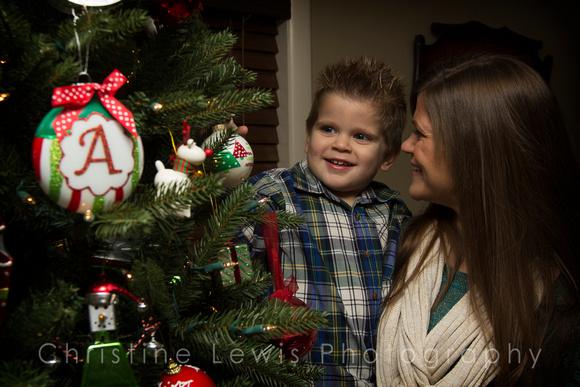 children professional photography portrait photo shoot chattanooga, TN Dunlap Christmas boy plaid, family, mother, son