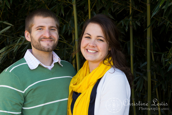 "professional photographer chattanooga, tn, ""christine lewis photography"" couple, anniversary, one year, love, marriage, bamboo, yellow, green"