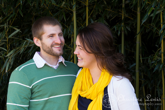 "professional photographer chattanooga, tn, ""christine lewis photography"", couple, anniversary, one year, love, marriage, bamboo, yellow, green, laughing"