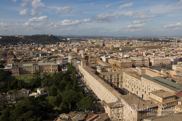 """the vatican, rome, italy, """"Christine Lewis Photography"""", St Peters Basilica, View from the dome, Vatican Museum"""