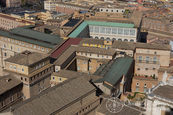 """the vatican, rome, italy, """"Christine Lewis Photography"""", St Peters Basilica, View from the dome, rooftops"""