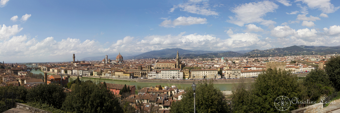 """Florence, Italy, travel, """"christine lewis photography"""", fine art print, home decor, piazzele michelangelo, panorama"""