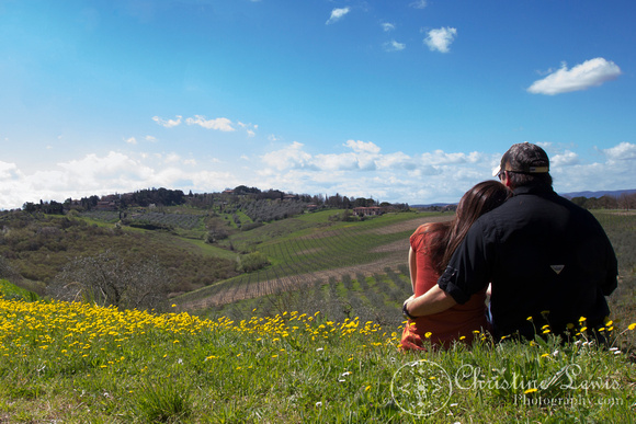 "tuscany, olive grove, trees, Italy, siena, travel ""christine lewis photography"", yellow flowers, couple, self portrait, vineyard"