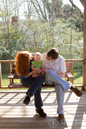 "family portrait, professional, chattanooga, tn, tennessee, ""christine lewis photography"", child, baby, porch, spring"