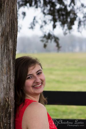"senior portrait, professional, chattanooga, ooltewah, tn, girl, female, class of 2013, ""christine lewis photography"", outdoor, natural, coral, laugh, fence, tree"