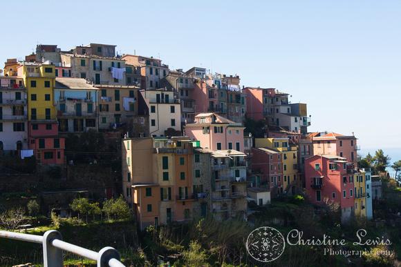 """italy, cinque terre, travel, """"christine lewis photography"""", fine art, home decor, scenic, corniglia, colorful buildings"""