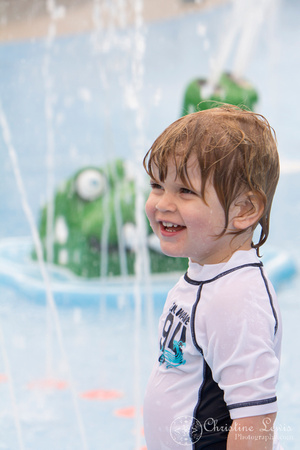 """children portrait photographer chattanooga tn warner park spray and play """"christine lewis photography"""" birthday party boy two year old toddler"""