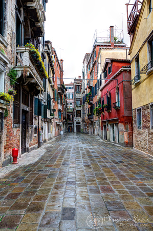 "italy, venice, travel, ""christine lewis photography,"" home decor, fine art print, red, street"
