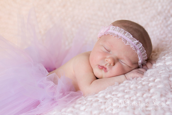 "baby photography, portrait, studio, chattanooga, tn, hixson, ""christine lewis photography"", girl, pink, tutu, purple, newborn"