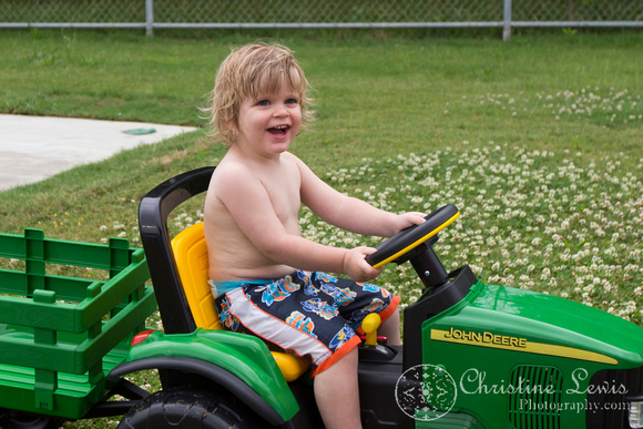 "children portrait photographer chattanooga tn warner park spray and play ""christine lewis photography"" birthday party boy two year old toddler john deere tractor"