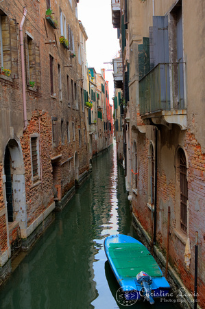 "italy, venice, travel, ""christine lewis photography,"" home decor, fine art print, green boat, canal"