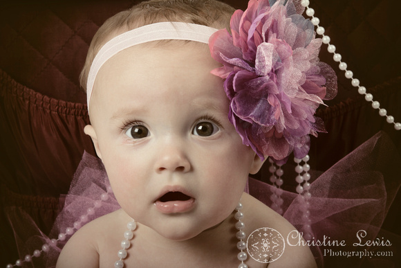 "baby photography, portrait, studio, chattanooga, tn, hixson, ""christine lewis photography"", girl, pearls, tutu, pink, bow, suitcase"