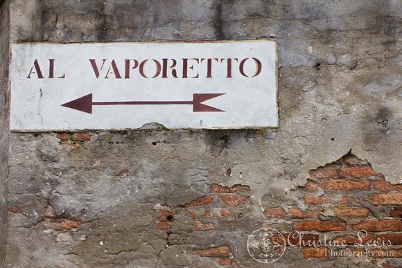 "italy, venice, travel, ""christine lewis photography,"" home decor, fine art print, brick, sign, al vaporetto"