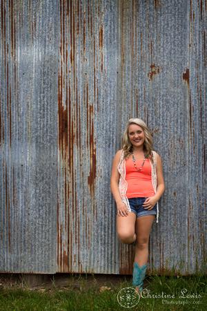 "junior portrait, photo shoot, session, outdoor, natural, girl, ""christine lewis photography"", orange, barn"