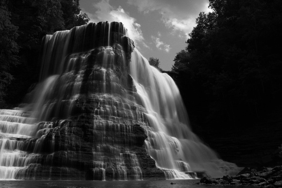 "B&W, Cookeville, Sparta, ""black and white"", ""large waterfall"", ""long exposure"", ""scenic waterfall"", ""state park"", waterfall"