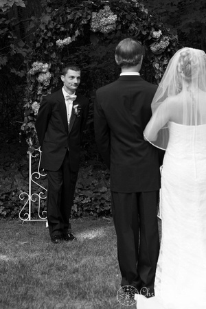 "Atlanta wedding, ""Christine lewis photography"" Chattanooga, TN, professional, bride walking down the aisle with her sons, groom's reaction"