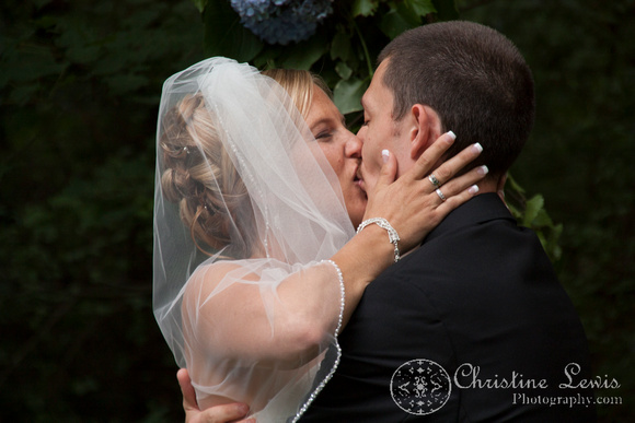 "Atlanta wedding, ""Christine lewis photography"" Chattanooga, TN, professional, bride and groom, ceremony, the kiss"