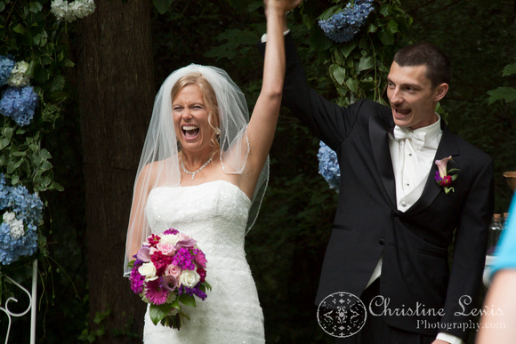 "Atlanta wedding, ""Christine lewis photography"" Chattanooga, TN, professional, bride and groom, ceremony, presenting of the couple"