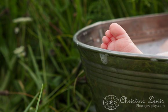 """6 month old baby portrait photo shoot professional Chattanooga, TN """"Christine Lewis Photography"""" child wildflower field outdoor natural bubble bath"""