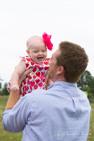 """6 month old baby portrait photo shoot professional Chattanooga, TN """"Christine Lewis Photography"""" child wildflower field outdoor natural daddy daughter"""