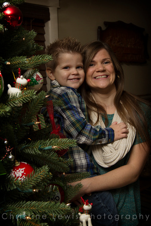 children professional photography portrait photo shoot chattanooga, TN Dunlap Christmas boy plaid, family, mother, son
