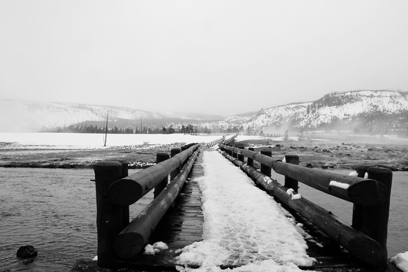 National, Park, WY, Wyoming, Yellowstone, activity, and, art, basin, biscuit, black, decor, fine, home, leading, lines, monochrome, photographs, pictures, prints, professional, snow, volcanic, white,