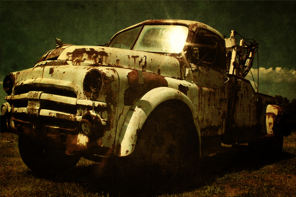 "HDR, abandoned, dodge, down, grungy, rustic, texture, ""tow truck"", worn"