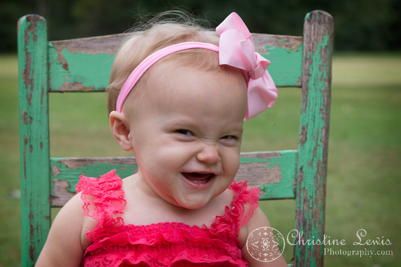 """one year old child baby birthday photo shoot portraits professional Chattanooga, TN """"Christine Lewis Photography"""" outdoor natural"""