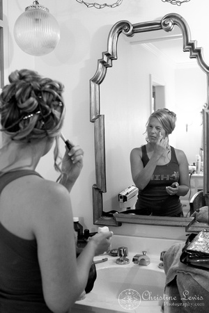 "Atlanta wedding, ""Christine lewis photography"" Chattanooga, TN, professional, getting ready, bride, make up, mirror"