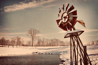 "windmill, pond, farm, country, vintage, antique, art décor home, ""Christine Lewis Photography"""