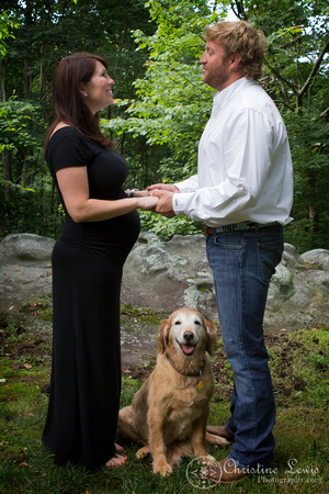 "maternity session photo shoot portraits chattanooga, tn ""christine lewis photography"" natural outdoor pet dog"