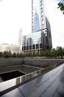 National September 11 Memorial Reflected