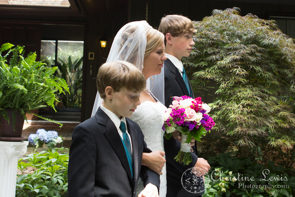 "Atlanta wedding, ""Christine lewis photography"" Chattanooga, TN, professional, bride walking down the aisle, sons giving her away"