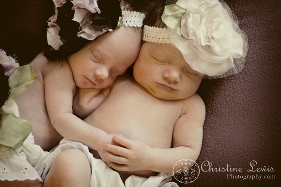 "newborn photography, twins, chattanooga, tn, portraits, ""christine lewis photography"", baby, vintage"