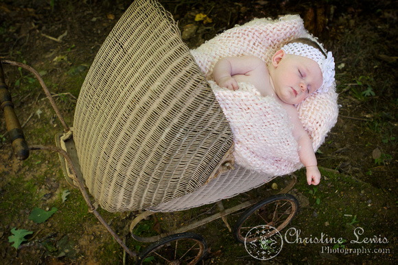 "baby portrait photo shoot, chattanooga, tn, three months old, children, ""Christine Lewis Photography"", outdoor, sleeping, carriage, vintage"