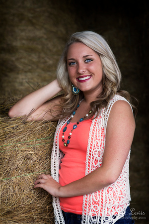 """junior portrait, photo shoot, session, outdoor, natural, girl, """"christine lewis photography"""", orange, hay, barn"""