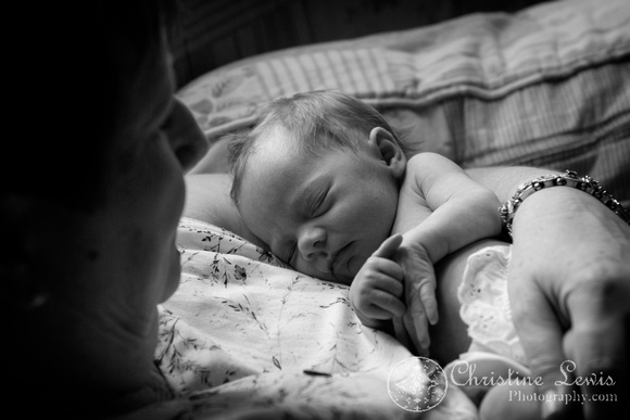 """newborn photography, twins, chattanooga, tn, portraits, """"christine lewis photography"""", baby, grandmother, black and white"""