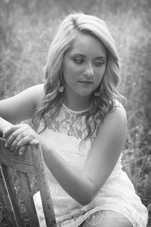 """junior portrait, photo shoot, session, outdoor, natural, girl, """"christine lewis photography"""", field, white, black and white"""